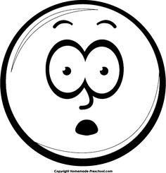 clipart smiley face black and white - Google Search