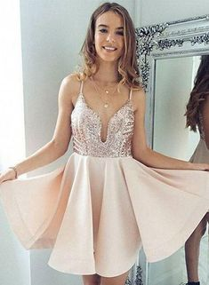 Sexy Halter Short Rose Gold Sparkly Homecoming Dress Cocktail Dress ... e586dcb84