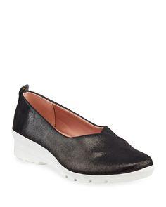 $99.0. TARYN ROSE Flats Eliza Metallic Comfort Walking Shoes #tarynrose #flats #clothing