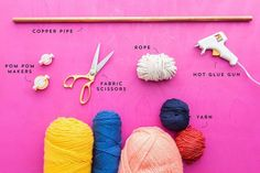 How to Make This Ridiculously Adorable Pom-Pom Tassel Wall Hanging – Brit + Co