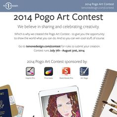 All our Pogo products are discounted to encourage drawing and creativity for the 2014 Pogo Art Contest #POGOCONTEST