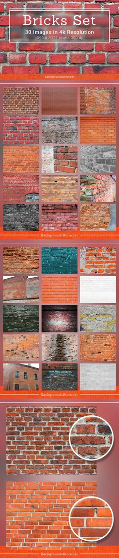 Brick Wall Textures Set
