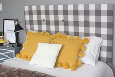 Learn how to make a cheap & easy DIY upholstered headboard with tufting, using simple materials you have at home. No powertools and no sewing needed. Cardboard Headboard, Cheap Diy Headboard, Diy Tufted Headboard, Full Size Headboard, How To Make Headboard, Diy Headboards, Headboard Ideas, Queen Headboard, Ikea Hack Bedroom