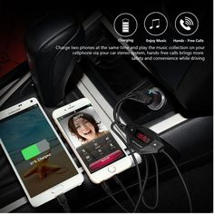 3.5 headset phone car FM transmitter hands-free features of the new FM30