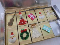Vintage Christmas Matches Set of 9 Little Boxes