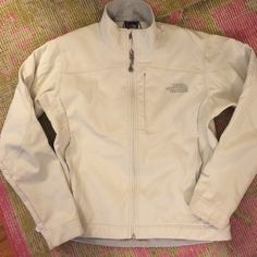 The North Face Jacket/shell Like new. North Face Jacket/Shell. Off white/ivory color. North Face Jackets & Coats