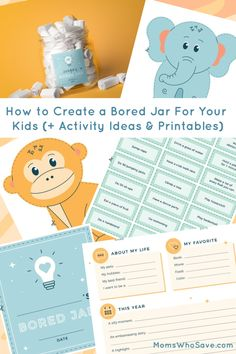 Water Activities, Activities For Kids, Activity Ideas, Musical Instruments Drawing, Bored Jar, Garden Labels, Fun Games For Kids, Jar Labels, Boredom Busters