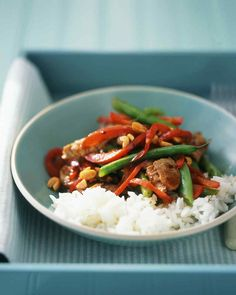 Prepare take-out style food at home, with quick recipes from Martha Stewart. You'll find tacos, moussaka, chicken teriyaki, eggplant parmesan, and more.