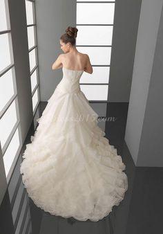 Noble Princess Organza tiers Wedding Dress with a wrap - Dress2015.com