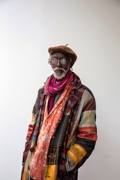 Issa Samb. Colourful and unconventional. It's great seeing men be expressive in their clothes choices.
