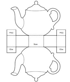 Printable Teacup Templatecaja tetera Tea Pot Candy Box Templates - Invitation Templates Design