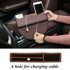 Car Storage Box Gap Filler Catcher Phone Keys Cards Organizer Holder Organizer