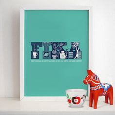 FIKA  Swedish Poster Print  Kitchen Art by HomePosters on Etsy, $19.00
