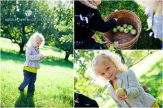 Documentary style photography with young children in an orchard. Be sure to ask permission first!