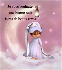 BONNE NUIT Sleeping Gif, Fairy Wallpaper, French Language Lessons, Dream Night, Good Night Quotes, French Quotes, Emoticon, Night Time, Sweet Dreams