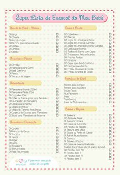 Super Lista de Enxoval: Baby Checklist, Baby E, Baby List, Baby Coming, Pregnant Mom, Baby Born, Baby Shark, Pregnancy Tips, Kids And Parenting