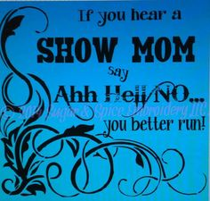 Show Mom Screen Printed TShirt by SugarSpiceEmbroidery on Etsy, $15.00