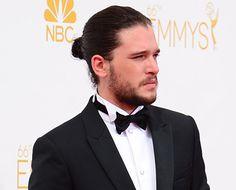 Emmys 2014: Kit Harington Rocks Man Bun on the Red Carpet - Us Weekly