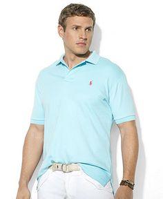 Polo Ralph Lauren Big and Tall Shirt, Classic-Fit Short-Sleeve Cotton Interlock