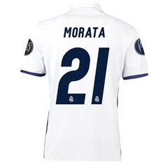 d4298ed52bbaf Real Madrid Home UEFA Champions League Shirt 2016 17 Kids with Morat Online  Shopping