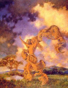The Storm : Maxfield Parrish