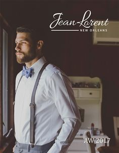 Jean Lorent AW 2017 Lookbook. This brand used professional photograph to show their leather bow ties in true southern gentleman style.