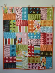 Easy quilt...simple! Love these fabric   choices..
