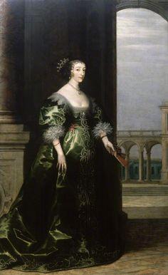 Henrietta Maria by unknown (background by Hendrik van Steenwyck),1635, National Portrait Gallery, London
