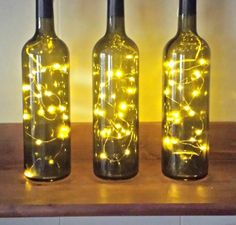 I've been collecting wine bottles for the past 3 years with plans to turn them into a wine bottle lamp. I'm by no means a crafty person, but the fact that 3 empty bottles survived a move AND my mas…