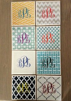 I WILL be doing this asap!  I am addicted to monograms... nothing new there :P   WIFE & LIFE » Pins to Reals: DIY Coasters