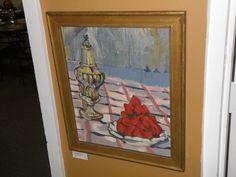 'Strawberries' oil on board  17 x 14