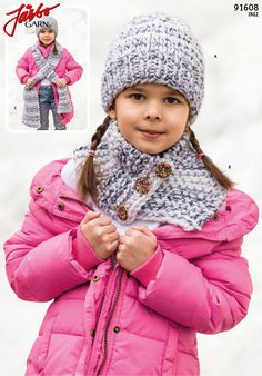 Knit cool kids accessories with our brand new bulky yarn Inez.