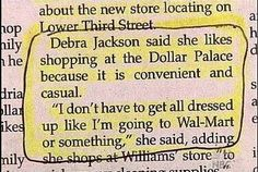 wow, does she shop in her underwear?