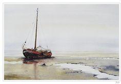 Dutch boat on the mud