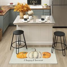 Modern, minimalist and magical for fall, the Happy Pumpkins Mat in Natural effortlessly adds autumn style with its harvest inspired orange and white pumpkin scene and simple greeting. #fall #falldecor #doormat #pumpkinspice #kitchendecor #coffee #lowes #homedecor #pumpkins #autumn #homedecor #arearugs #mohawkhome #mohawk #plaid Decor, Fall Home Decor, Autumn Home, Kitchen Storage, Small Kitchen Storage, Kitchen Decor, Home Decor, Kitchen, Mohawk Home