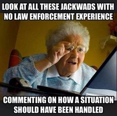 """People watch too many movies.  HOLLYWOOD IS NOT REAL, dummies.  Cops aren't going to try to shoot a knife out of a man's hands when he's charging at him.  What """"smh"""" was invented for.  People who think all law enforcement are better shots than snipers...  D'oh."""