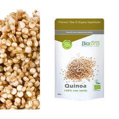 Quinoa Semillas Biotona 400gr  *La quinoa es una semilla con características únicas la cual podremos tomar como si de un cereal se tratara pero contenido muchas más proteínas y grasas insaturadas (ácidos omega 6 y omega 3) que la mayoría de los cereales. Aporta sus calorías en forma de hidratos complejos, pero también aporta cerca de 16 gramos de proteínas por cada 100 gramos ofreciendo 6 gramos de grasas con la misma proporción de alimento.