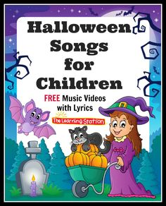 FREE Halloween Music Videos for Children! Your children will love these wonderful Halloween music videos that are filled with delightful animation, action songs and learning fun galore! Included are FUN dances, fingerplays, sing-alongs and much more! These songs can be shared at morning meeting to enhance your Halloween theme. They are also great for circle time, group activities, brain breaks and indoor recess. They make great songs for kids to perform for school assemblies or family nights.