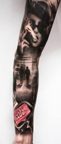 Fight Club tattoo by Paolo Murtas(Favorite Places Art)