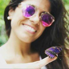 Fotografía por: @vickoortiz  #cataratasarg #iguazu #mariposa #amazing #purple #trip #naturelove #naturaleza #viaje