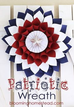 Simple and festive DIY Patriotic Wreath!!