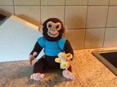 Chimpansee met banaan
