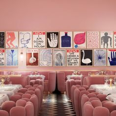 Our editor's pick of the most beautiful restaurants in London for 2020 – from India Mahdavi's pink parlour in Mayfair to Tom Dixon's new restaurant in Coal Drops Yard Restaurants For Birthdays, Unique Restaurants, London Restaurants, Sketch London Restaurant, London Sketch, Restaurant Interior Design, Cafe Interior, Interior Styling, Colorful Restaurant