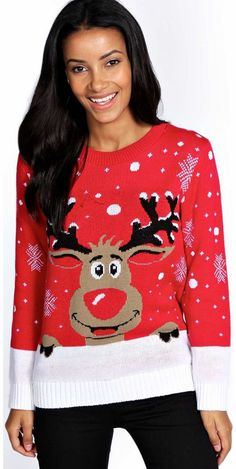 boohoo Sofi Reindeer Christmas Jumper - red azz14786 Go back to nature with your knits this season and add animal motifs to your must-haves. When youre not wrapping up in woodland warmers, nod to chunky Nordic knits and polo neck jumpers in peppered mar http://www.comparestoreprices.co.uk/womens-clothes/boohoo-sofi-reindeer-christmas-jumper--red-azz14786.asp