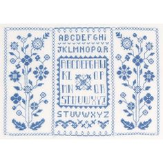 Kit de broderie: Abécédaire bleu BK877 - Abécédaire - DMC