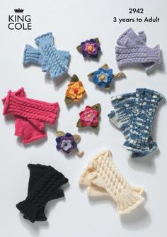 2942 | Knitting Pattern | Fingerless Gloves and Corsage
