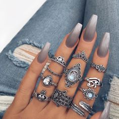 Pretty rings from staywildmoonchild.co
