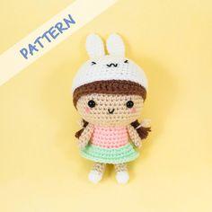 Girl with Bunny Hat Amigurumi Pattern