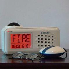 Lifetone Hlac151 Bedside Vibrating Fire Alarm And Clock