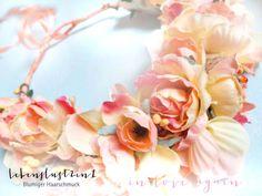 Blumenkranz Blumenkrone **CANDICE** in love again von Lebenslust2in1 auf DaWanda.com